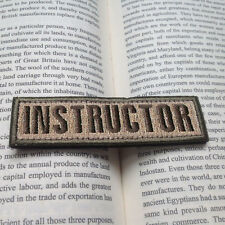 3D EMBROIDERY INSTRUCTOR TACTICAL BADGE MILITARY ARMY ISAF MORALE VELCRO PATCH
