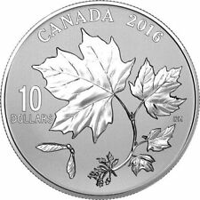 *HOT SALES* 2016 'Canadian Maple Leaves' Specimen $10 Silver Coin 1/2oz