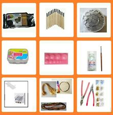 37 pcs Terracotta jewelry making tools kit-500 gms Brown clay,beads roller,maker