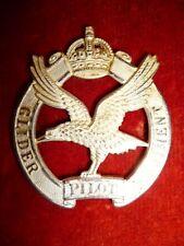 The Glider Pilot Regiment KC Officer's Silver Cap Badge - Scarce, Firmin Maker