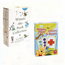 Winnie the Pooh Collection 4 Books Set Colours And Shapes Cards New Paperback