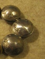 HAND MADE SQUASH BLOSSOM BEADS(12) OUT OF ORIGINAL BUFFALO NICKELS SIDE DRILLED!