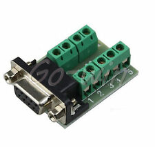 2pcs DB9 connector female adapter signals Terminal RS232 Serial to Terminal