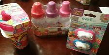 NEW Evenflo Distroller Lot 3 pk Bottles 4 oz, 2pk Pacifier, 3 pk Sippy Cups
