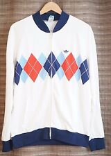 Adidas Vintage Tracktop Tracksuit Jacket RARE Made in West Germany sz 54 /  XL