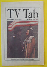 James Whitmore I WILL FIGHT NO MORE FOREVER Rockland NY TV Tab guide Apr 3 1975