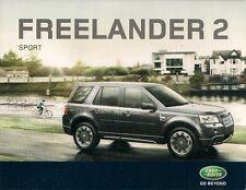 Land Rover Freelander 2 TD4 Sport 2009 UK Market Leaflet Sales Brochure