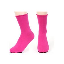 New Korea Fashion Roll Top Solid Color Ankle Socks Cotton Casual Socks -Hot Pink