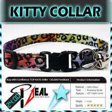 Safety  CAT KITTEN  Breakaway Collar ~ TROPICAL FOREST LEOPARD SPOTS PURPLE ~