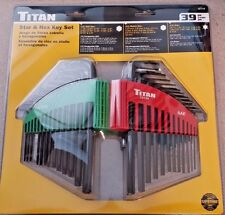 TITAN 12739 39 PIECE LONG ARM TORX &  HEX KEY SET