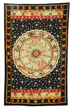Indian Handmad Tapestry Wall Hanging Ethnic Home Decor Zodiac Wall Art Gift