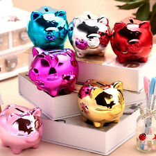 Cute Cartoon Pig Ceramic Piggy Bank Kids Children Toy Coin Cashbox Birthday Gift