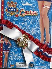 Lady in the Navy Garter Sailor Military Fancy Dress Halloween Costume Accessory