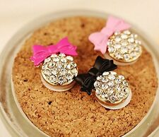 3 Autocollants strass blingbling Bouton Home pour appareils Apple ( 3 noeuds )