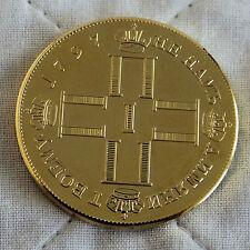 Rusia 1797 Paul I Oro Revestido la prueba patrón Coronación Rublo