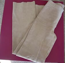 BEBE beige SUEDE BOOT CUT LEATHER PANTS -  - SIZE 0