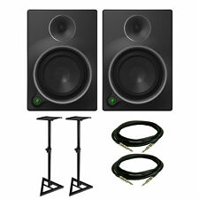 Mackie MR5 MK3 Studio Monitor Pair w/ Monitor Stands & Cables