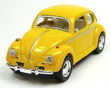 günstig: VW Käfer (1967) Modellauto 1:64 Metall Spritzguss 6cm gelb von KINSMART