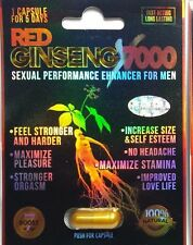 3 Pills RED GINSENG 7000 Male Enhancement Stimulant Sexual Performance Maximize