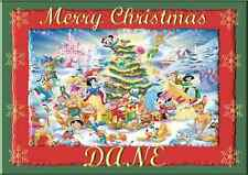 Disney Characters A5 personalised Christmas card son daughter nephew niece name