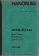 LKW HANOMAG  MATADOR 1965  Betriebsanleitung Manual Instructieboekje Manuale BA