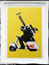 Sought-after! STUNNING Kenny Random ~ Original 1/1 ~ Let's Go Print MOD Scooter