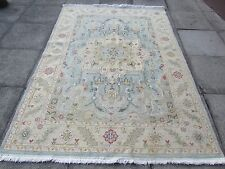 Old Hand Made Afghan Tribal Oriental Blue Wool Large Sumak Kilim 246x173cm