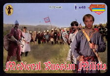 Strelets-R 1/72 M048 Medieval Russian Militia (48 Figures, 12 Poses)