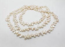 "55"" INCH LONG Genuine Natural Fresh Water Cultured Pearl Necklace"