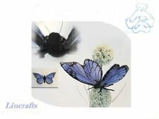 Blue Butterfly Soft Toy Insect by Hansa 6552