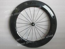 88mm clincher front bike wheels full carbon fiber 700C road wheels,front only