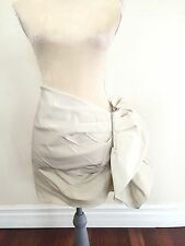 LANVIN H&M HM BIEGE OVERLAPPED DRAPED BUSTLE RUCHED SKIRT US 4 UK 8 EUR 34
