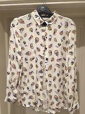 Zara Owl Shirt/blouse. XS