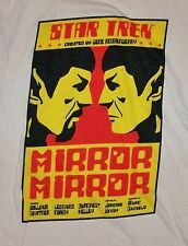 STAR TREK / MIRROR / GENE RODDENBERRY / SHATNER NIMOY / CREAM T- SHIRT SIZE S