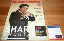 PSA/DNA PATRICK SHARP AUTOGRAPHED-SIGNED BLACKHAWKS 2008-2009 GAME PROGRAM 16201