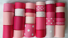 Wholesale grosgrain ribbon lot mix, Pink collection