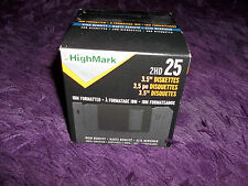 "Highmark 2HD IBM Formatted 3.5"" Diskettes High Density Box of 25 New"