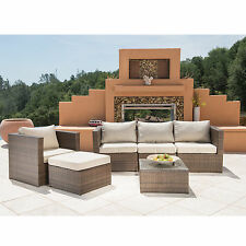 SUPERNOVA 6PC Outdoor Rattan Wicker Sofa Sectional Patio Garden Furniture Set