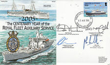 Rare 7RN24F The Centenary Year of the Royal Fleet Auxiliary Service Signed 14