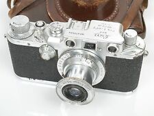 Leica IIIC Sharkskin mit with Elmar 3,5/50 Leica Tasche leather case