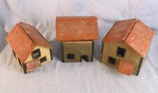3 VINTAGE O GUAGE HOMEMADE WOODEN BUILDINGS TRAIN /CHRISTMAS GARDEN  (LOT 1)