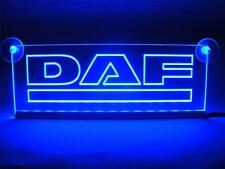 24 Volts DAF ENGRAVING ILLUMINATING BLUE LED NEON PLATES 24V/5W.