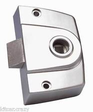 INTERIOR F-LOCK DOOR SLAM LATCH, SILVER SAND , WC, BATHROOM, MOTORHOME, CARAVAN,