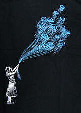 Kid Love Jelly Fish Balloon Deep Sea Banksy style scuba dive Man T-shirt M