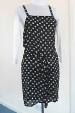 Ladies Casual Bowknot String Fastened Vest Top Black and White Free Size
