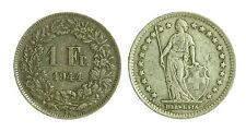 pci1833) Svizzera  Switzerland  Helvetia -  1 Franco  1944 Toned