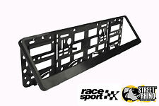 Ford Focus Race Sport Black Number Plate Surround ABS Plastic