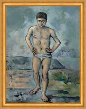 The Bather paul cezanne hombres bañador Baden rocas pradera playa B a3 02973