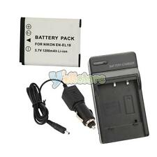New EN-EL19 ENEL19 Battery + Charger for Nikon Coolpix S4100 S3100 S2500 Camera