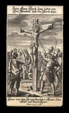 santino incisione 1700 GESU' CROCIFISSO COLPITO AL COSTATO